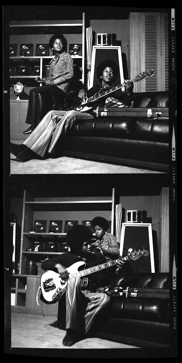 Michael & Jermine Jackson c.1968 from original 2.25 negative