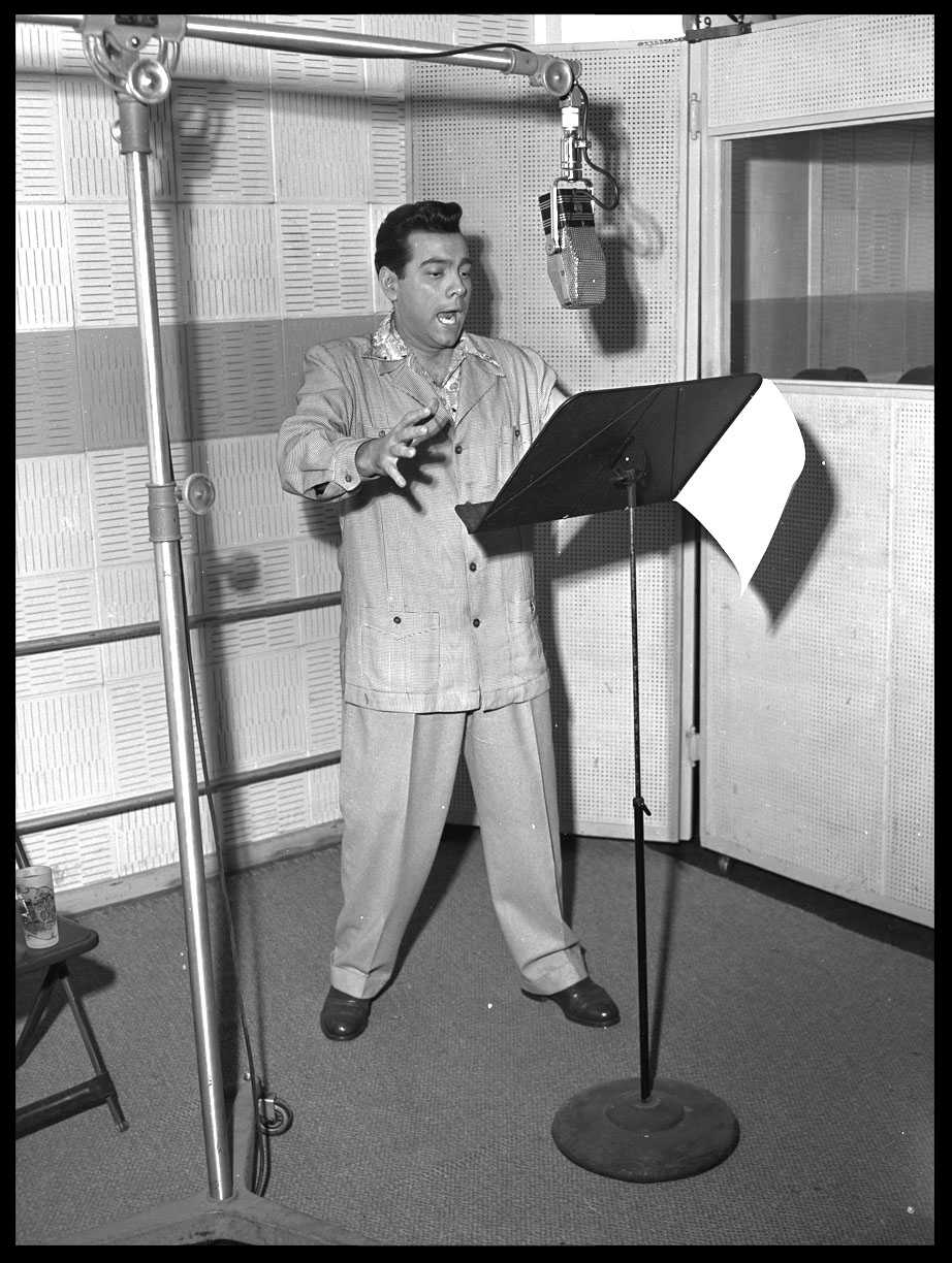 Mario Lanza c.1955 from original 4x5 negative
