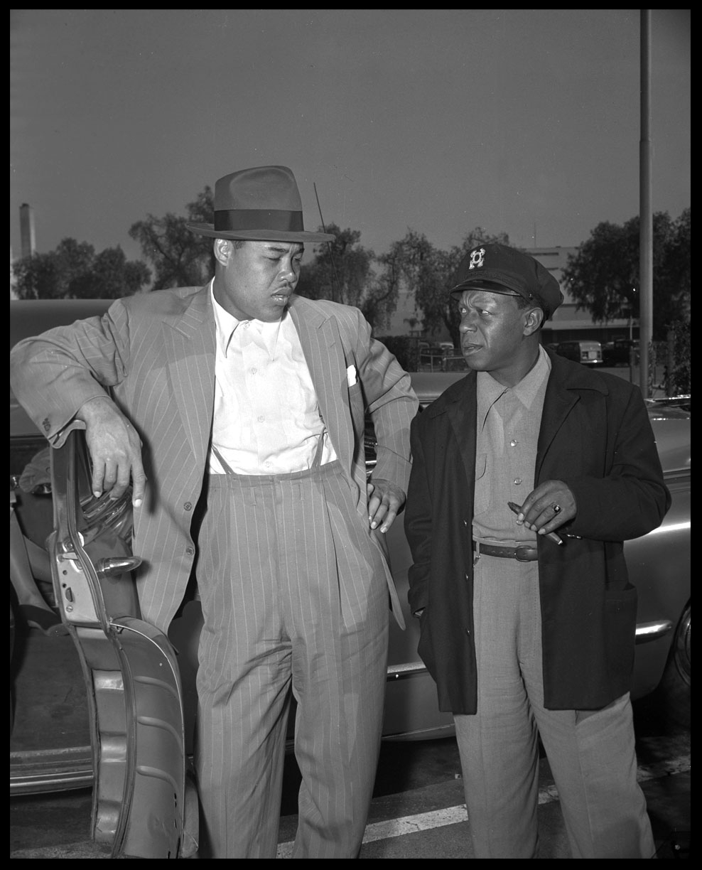 Joe Lewis c.1955 from original 4x5 negative