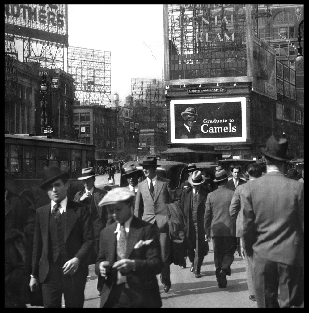 Times Square c.1920 from original glass plate negative