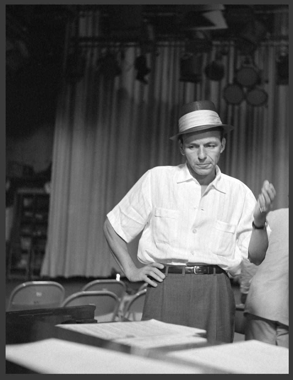 Frank Sinatra c.1955 from original 2.25 negative