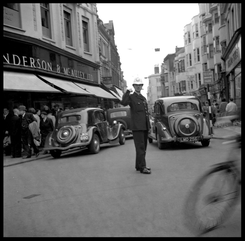 Dublin Police Officer c.1948 from original 2.25 negative
