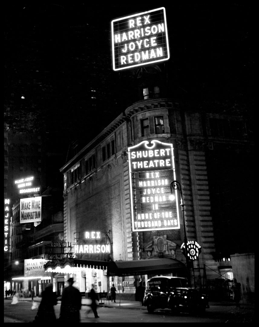 Shubert Theatre c.1948 from original 4x5 negative