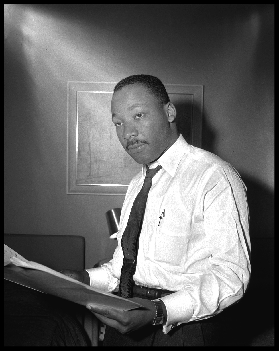 Dr.Martin Luther King Jr c.1962 from original 4x5 negative