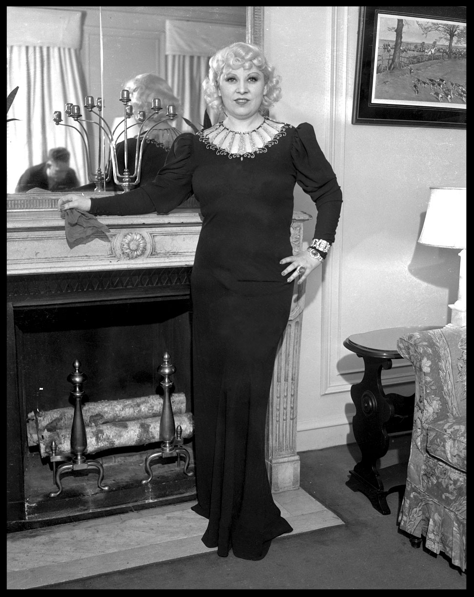 Mae West Looking Luscious c.1945 from original 4x5 negative