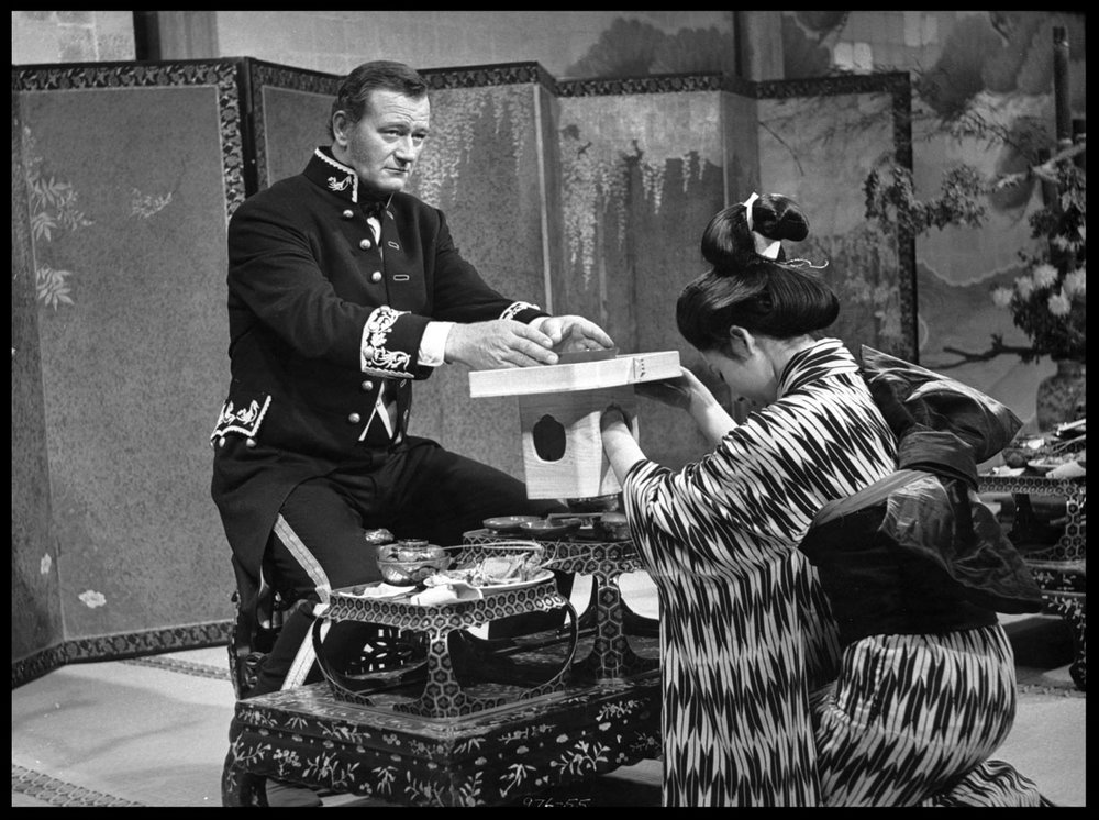 John Wayne & Eiko Ando From The Barbarian & the Geisha c.1958 from original 4x5 negative