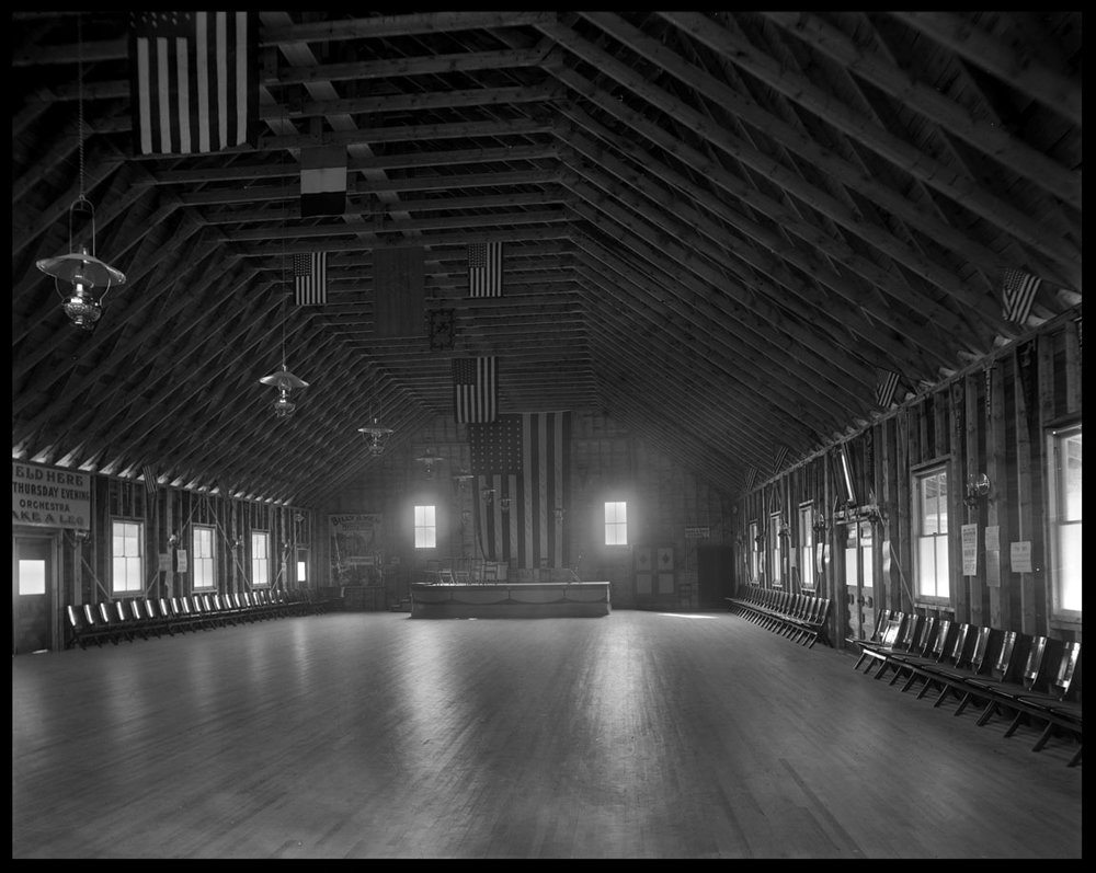 Barn Dance c.1915 from original 4x5 glass plate negative