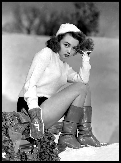 Gloria Saunders c.1949 from original 8x10 negative