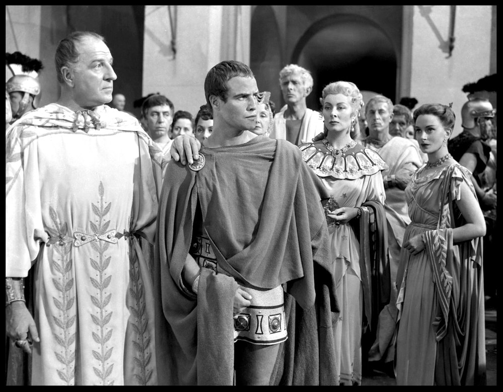 Marlon Brando as Mark Anthony in Julius Caesar c.1953 from original 8x10 negative