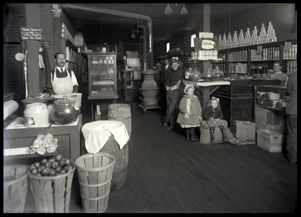 Dry Goods Store c.1912 from original 5x7 glass plate negative