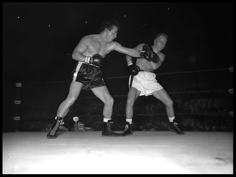 Rocky Graziano c.1948 from original 4x5 negative