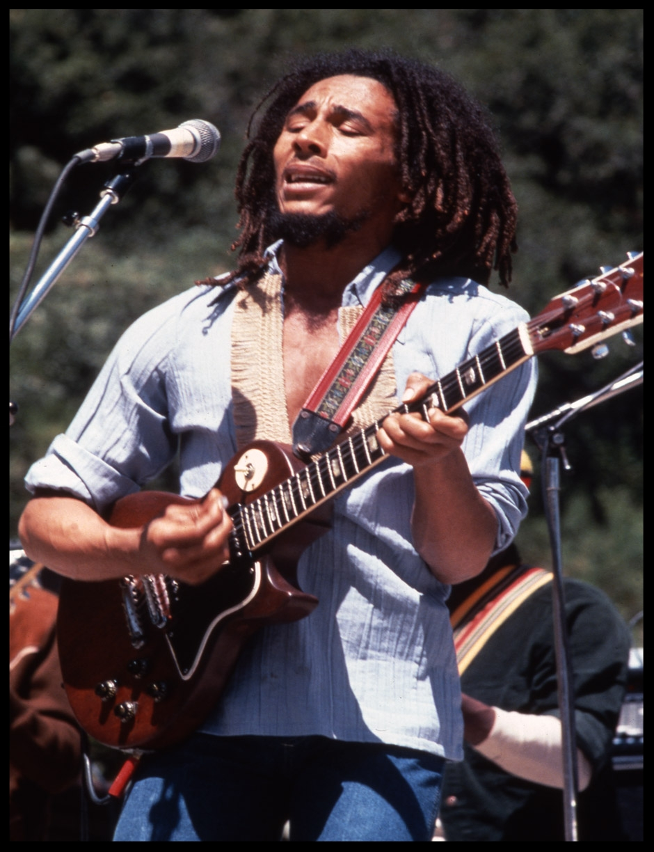 Bob Marley c.1978 from original 35mm transparency