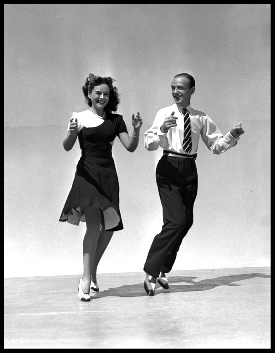 "Paulette Goddard & Fred Astaire in "" I ain't Hep to that Step But I'll Dig It "" c.1940 from original 4x5 negative"