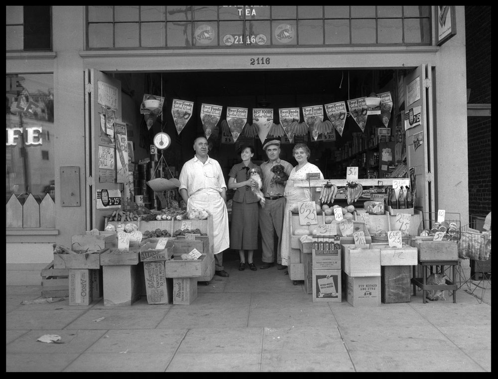 Mom & Pop Shop c.1950 from original 4x5 negative