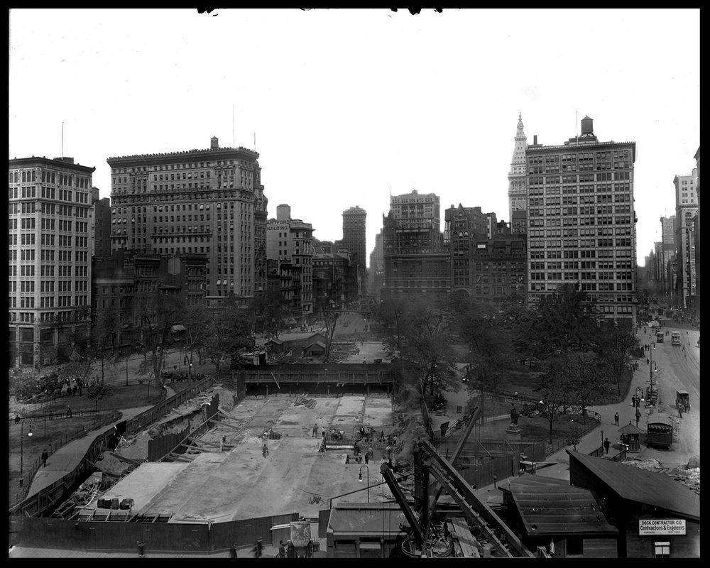 Union Square NYC Before the Empire State Building c.1914 from original 8x10 glass plate negative #unionsquare #oldnycphoto #mta #empirestatebuilding