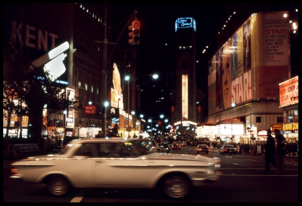 Times Square, NYC 1968 from original 35mm transparency #vintagenyc #vintagetimessquare #oldtimessquare #nixon #vintagephoto #vintagephotography