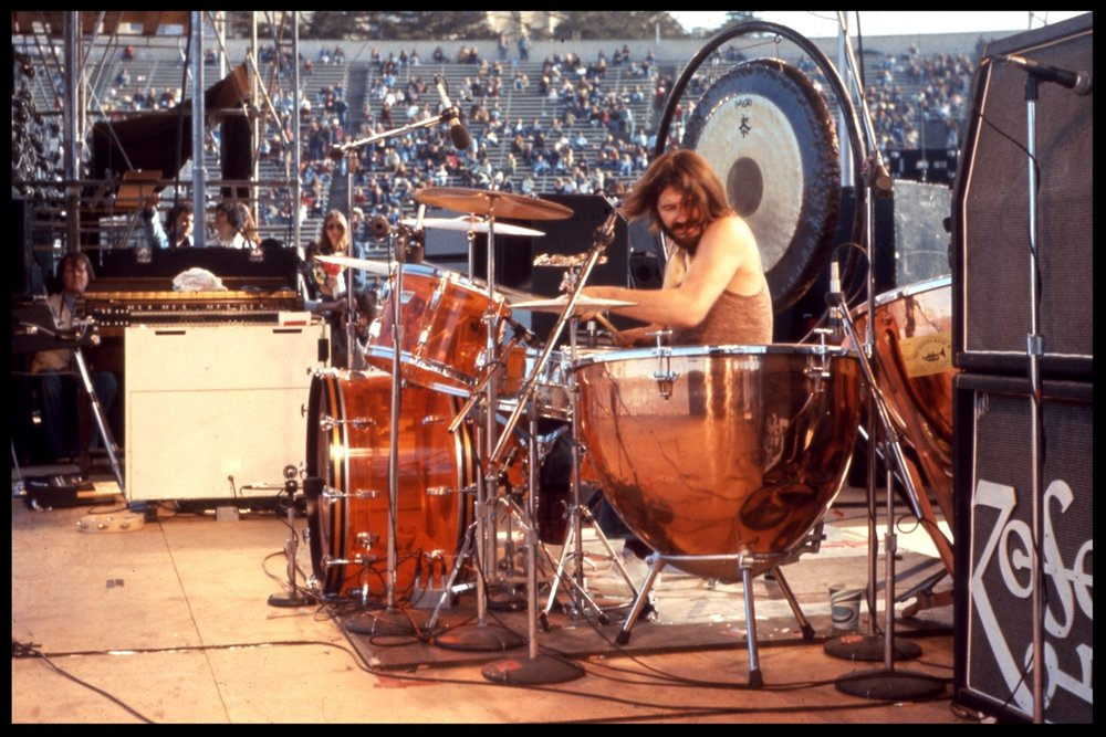 Led Zeppelin's John Bonham Live Onstage c.1977 from original 35mm transpency