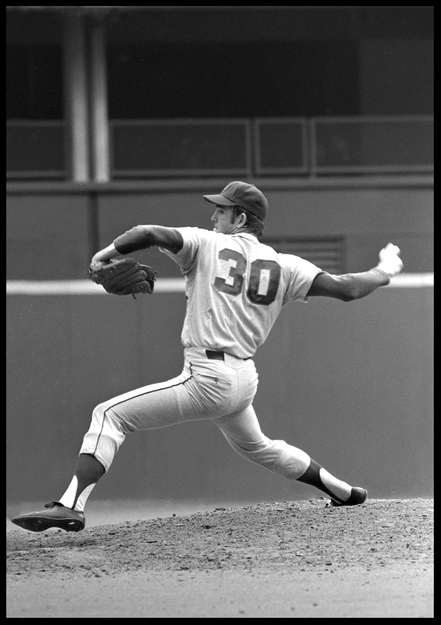 Nolan Ryan Pitching for the NY.Met's c.1970 from original 35mm negative