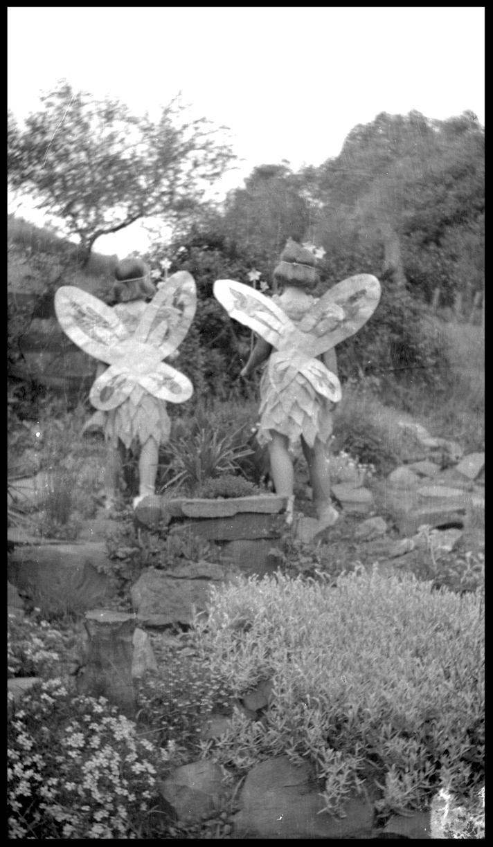 Two Cherubs c.1925 from the original 4x5 negative