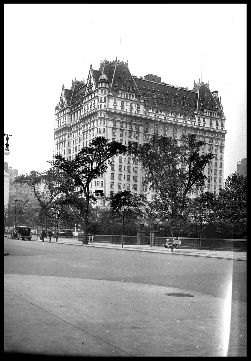 The Plaza Hotel c.1929 from the original 4x5 negative