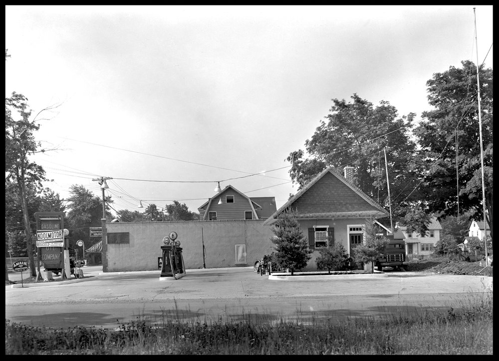 1930 Service Station from the original 8x10 negative