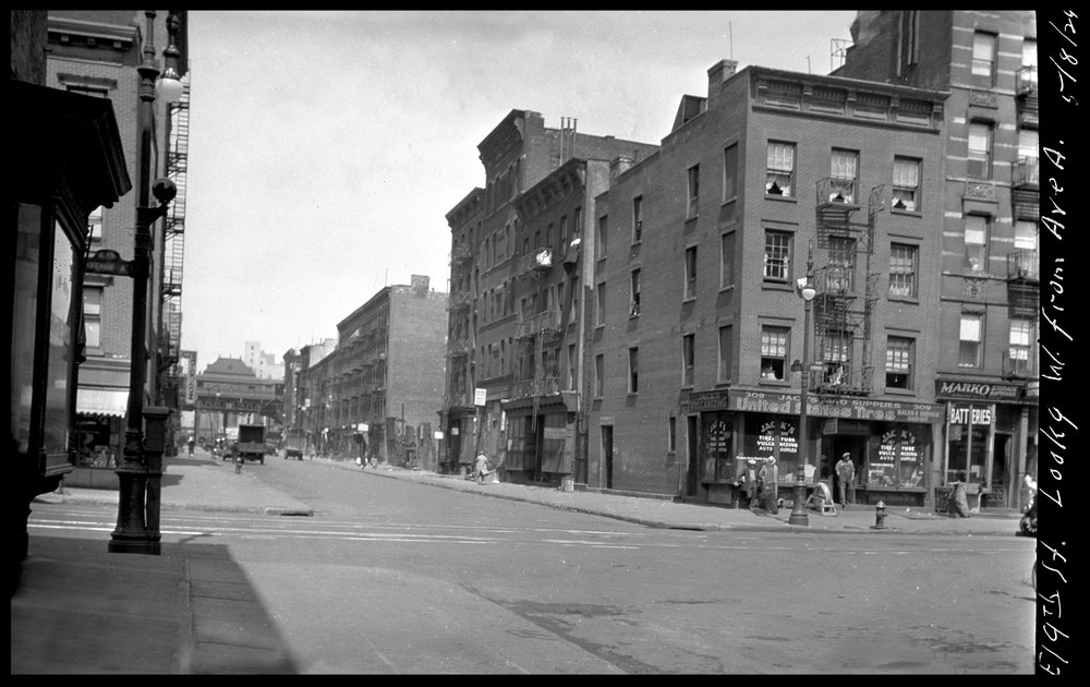 Stuytown, 19th st @ Ave A c.1929 from the original 4x5 negative