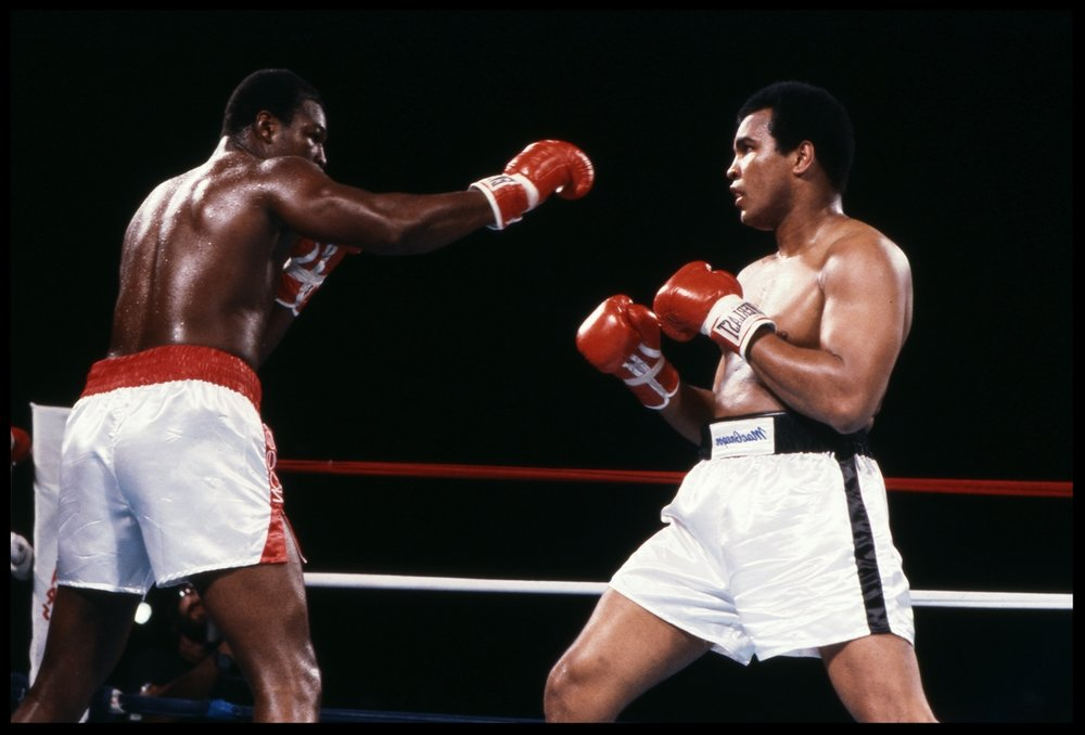 Muhammad Ali vs Larry Holmes c.1980 from the original 35mm transparency