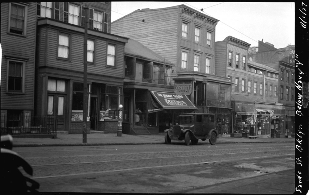 Brooklyn Navy Yard, Sands St & Navy St c.1929 from the original 4x5 negative