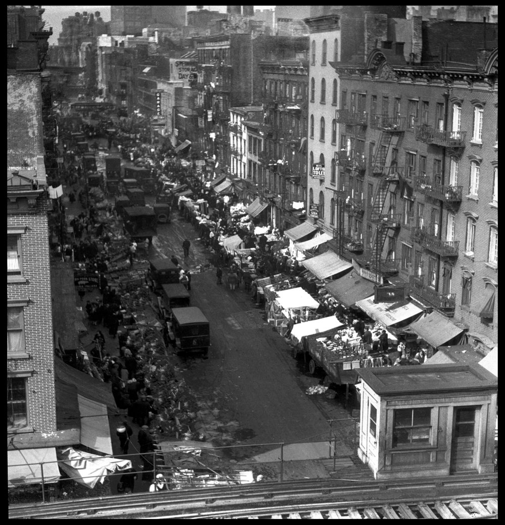 Lower East Side of Manhattan c.1928 from the original 4x5 negative
