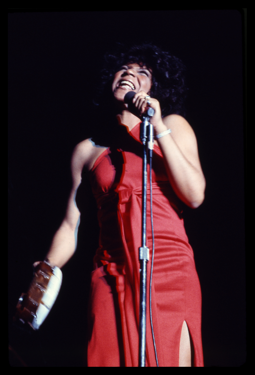 Aretha Franklin Live Onstage c.1969 from the original 35mm transparency