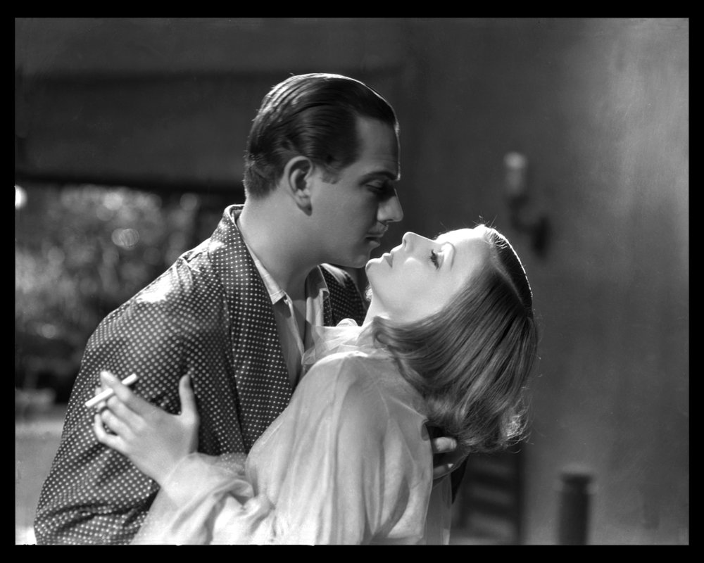 Greta Garbo & Melvyn Douglas in As You Desire Me c.1932 from the original 8x10 negative