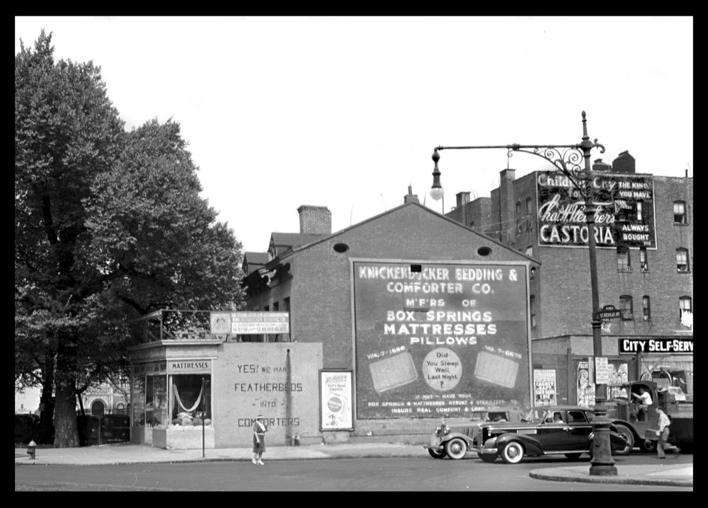 Washington Heights, St. Nicholas Ave & 163St NYC, c.1939 from the original 4x5 negative