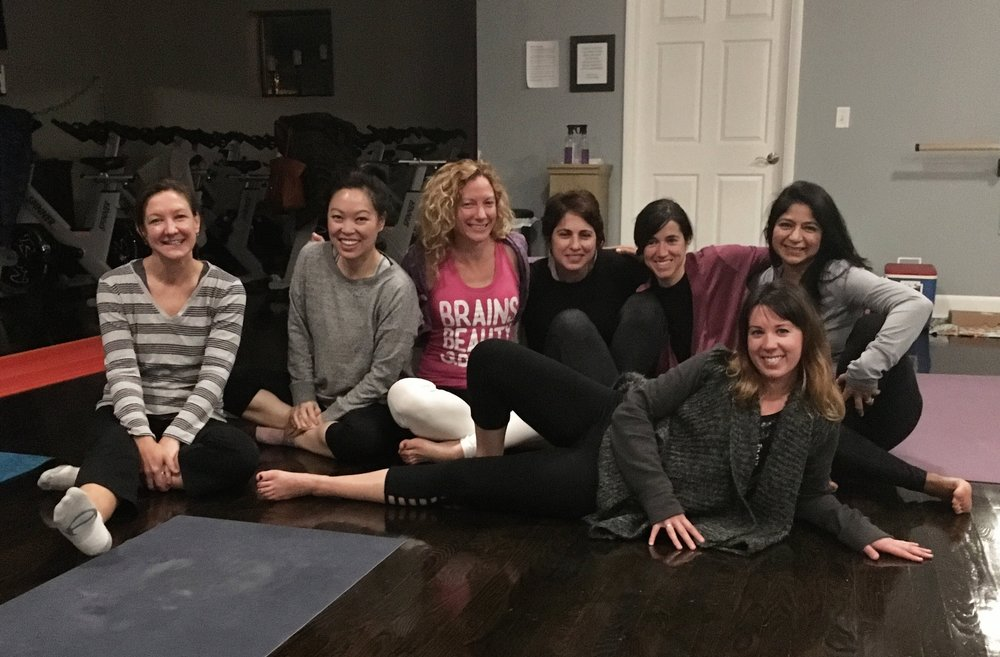 """Kristin, thank you so much, again! I am still feeling the benefits of your class. Carolyn and I were saying that we must do it again sometime! A private class is a fab way to spend a Saturday night with your girlfriends- especially when it was a surprise for my 40th birthday! Love!""     – Maeve, Guest of Honor"