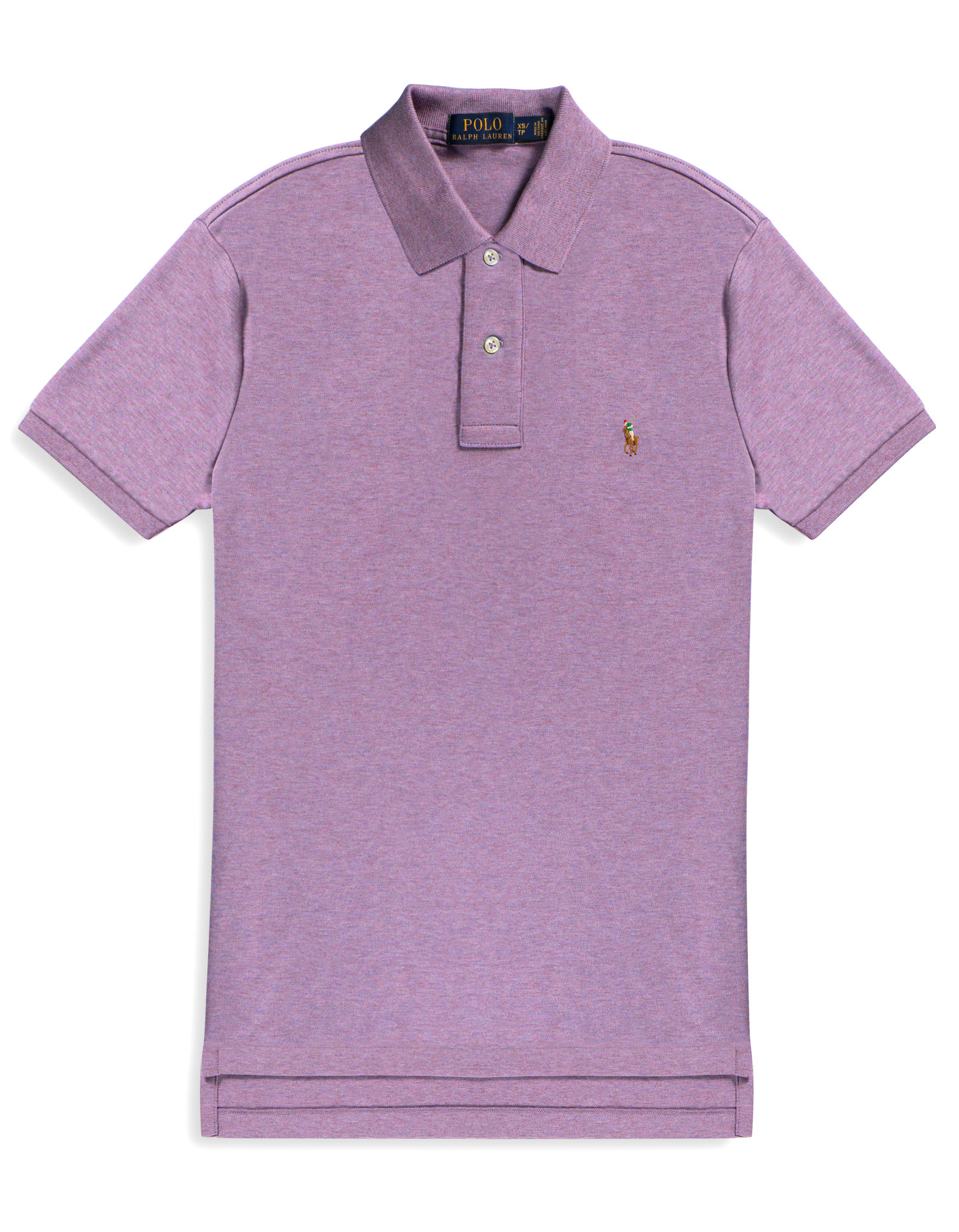 af2a875ed POLO RALPH LAUREN Classic-Fit Mesh Polo Shirt Pastel Purple (903912) —  GROONO S
