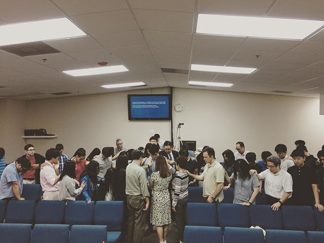 gathering to pray and encourage brother jae as he transitions to life in canada.  not goodbye but until God unites us again!