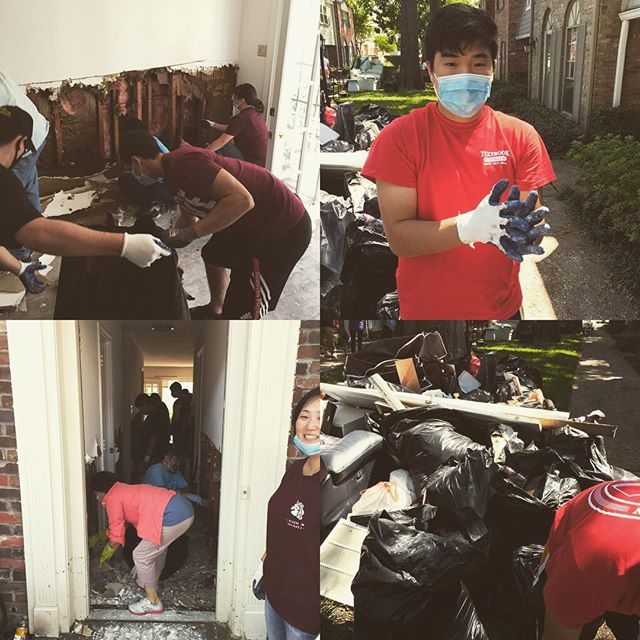 we serve and sacrifice because it is not in the knowledge of the Gospel that we glorify God and are matured in His image, but in the act of faithful obedient sacrifice that we genuinely become His children.  everything else is meaningless, false and self-idolatry.  thank you to those of @houstonlivingwaterministry who came out to serve, may God be praised.