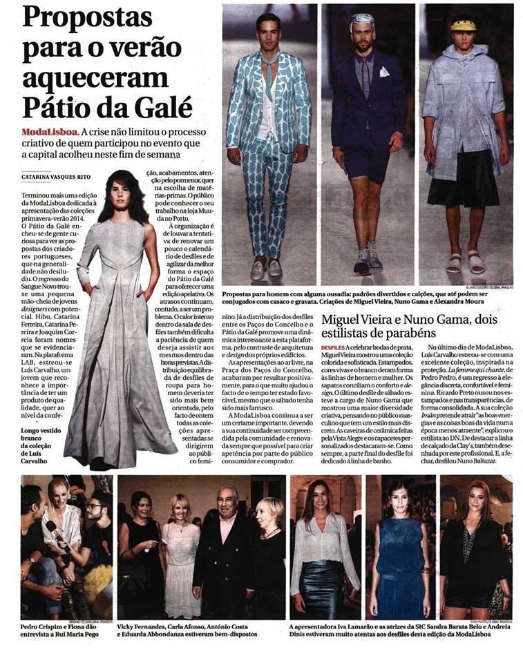 Diário de Notícias, Outubro 2013