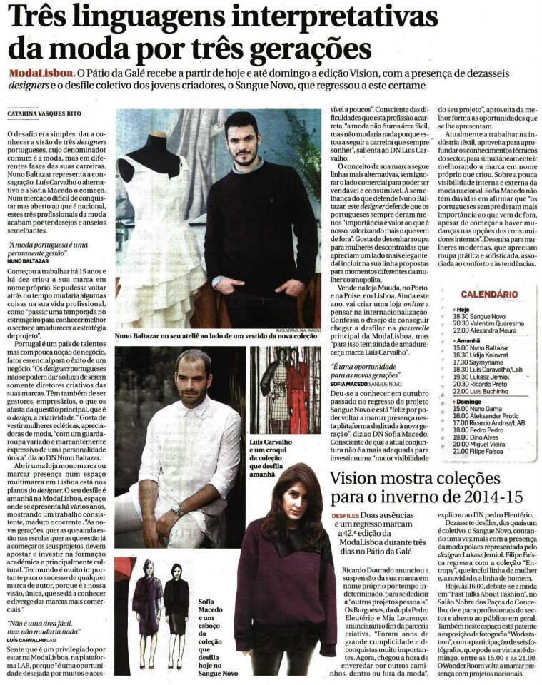 Diário de Notícias, Março 2014