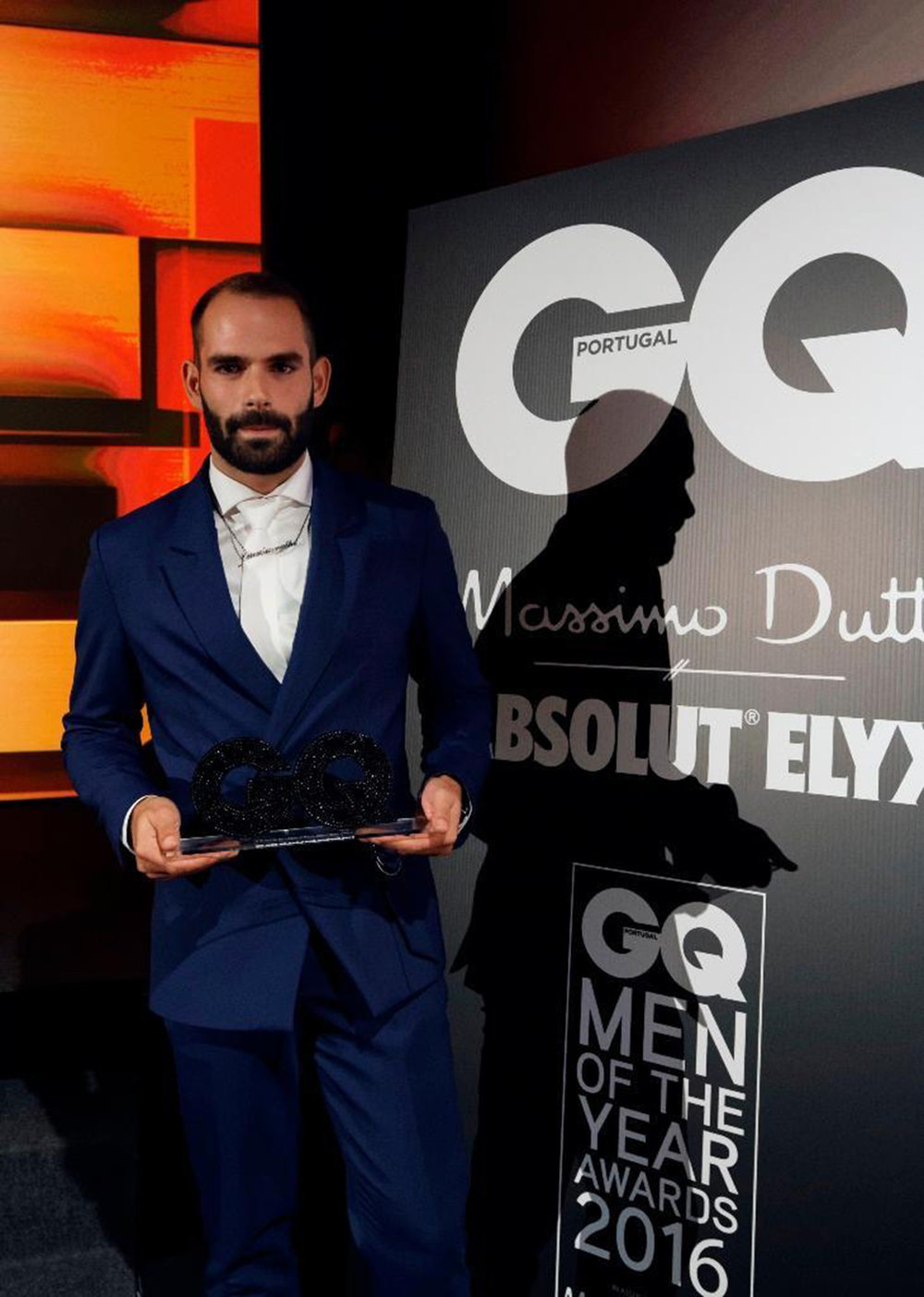 award for GQ -MAN OF THE YEAR - FASHION DESIGNER CATEGORY 2016 AWARDS - portugal DECEMBER 2016