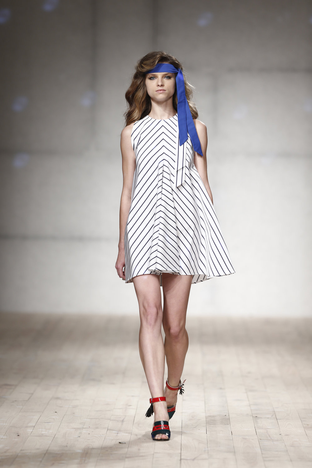 A-line striped dress  One available size 36 Original Price 396€ | Discount Price 198€ Ref. LCss17s234