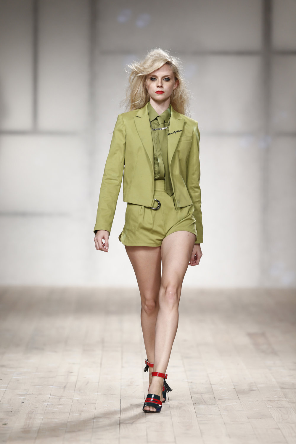 green shorts  One available size 34 Original Price 170€ | Discount Price 85€ Ref. LCss17s05