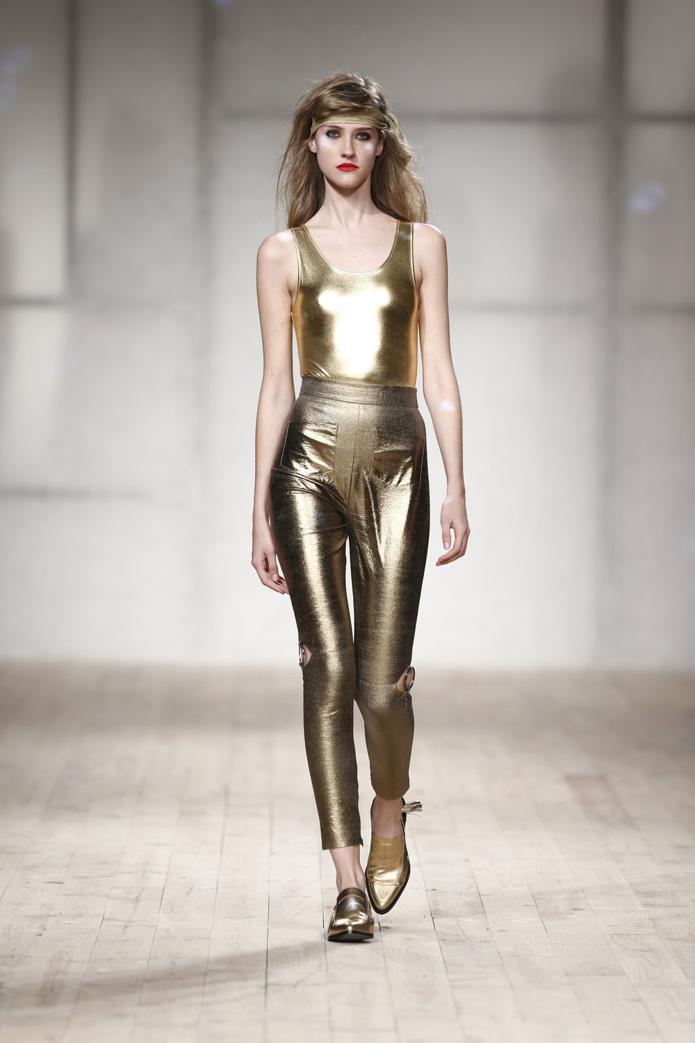 golden trousers   One available size 36 Original Price 232€ | Discount Price 116€ Ref. LCss17s03