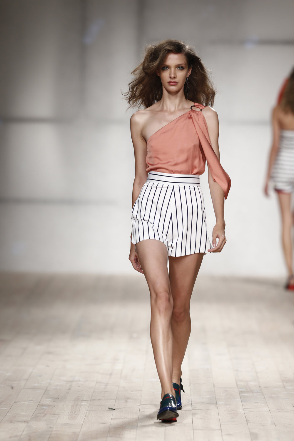 striped shorts  One available size 36 Original Price 133€ | Discount Price 66€ Ref. LCss17s05A