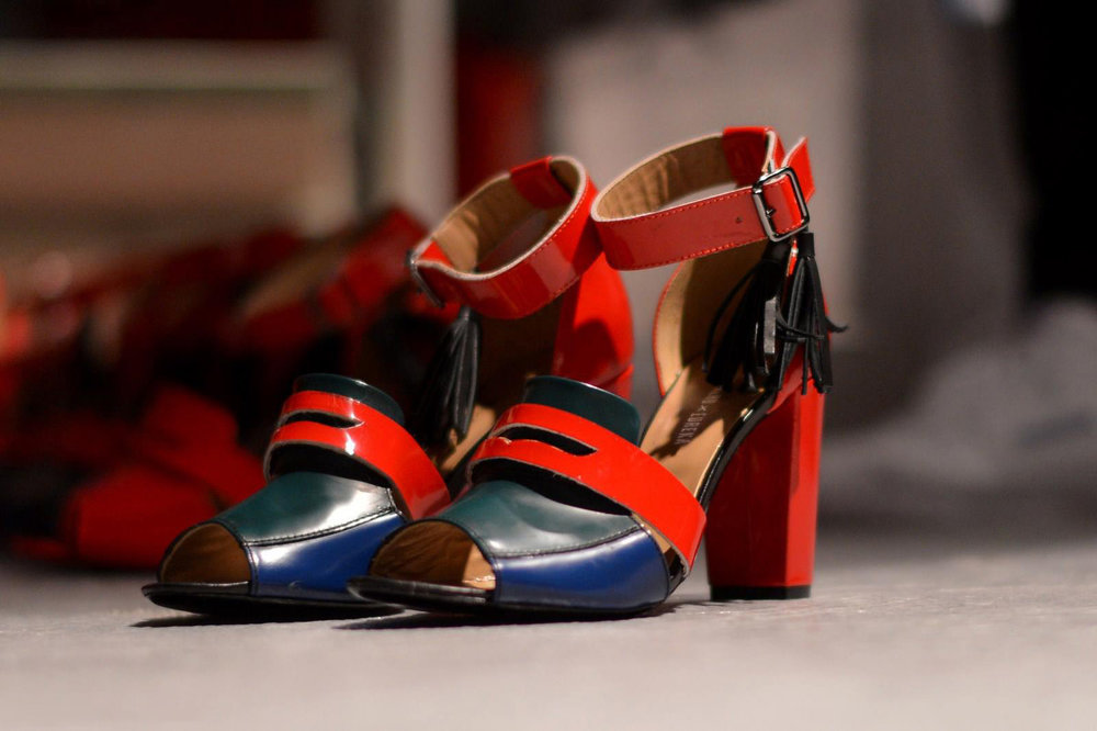 three color high heel sandals  available sizes 39/40 Original Price 99€ | Discount Price 49€