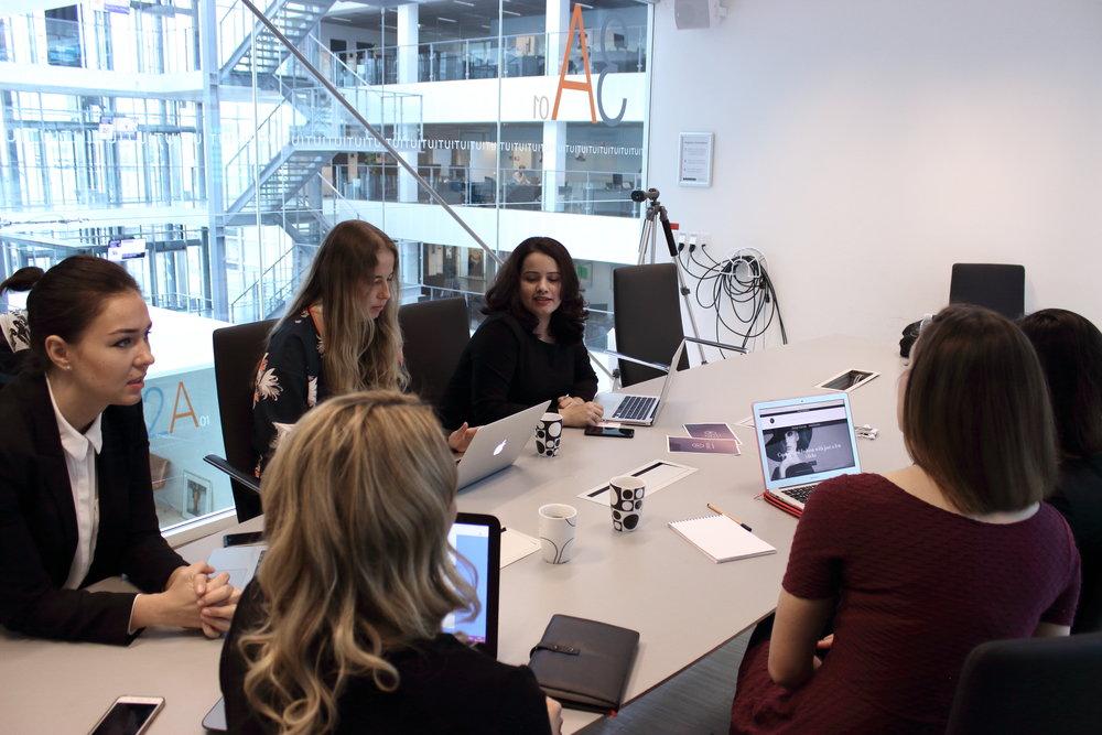 Tifiti team brainstorming.