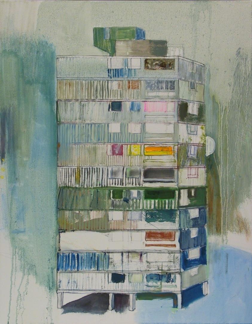 "Mutation VI (Rain Palace)   2017   oil on canvas   28"" x 22"""