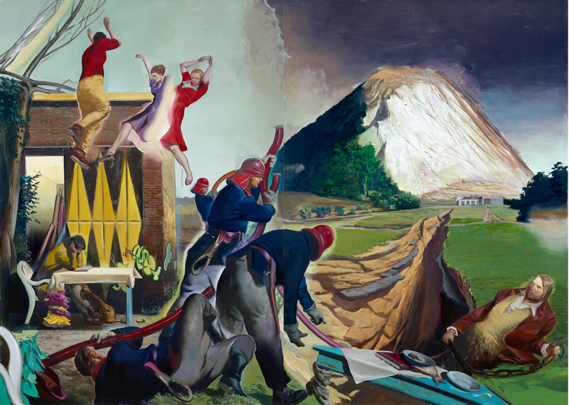 Neo Rauch Die Fuge 2007 oil on canvas