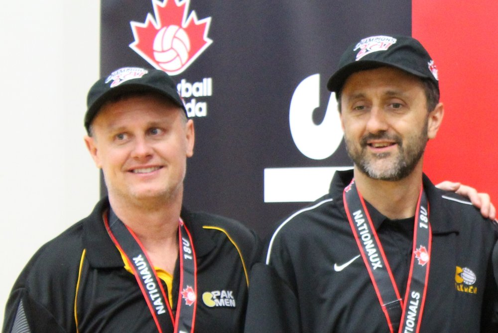 Pat Daniels (left) and Mike Albert (right) with their 2017 National Gold Medals