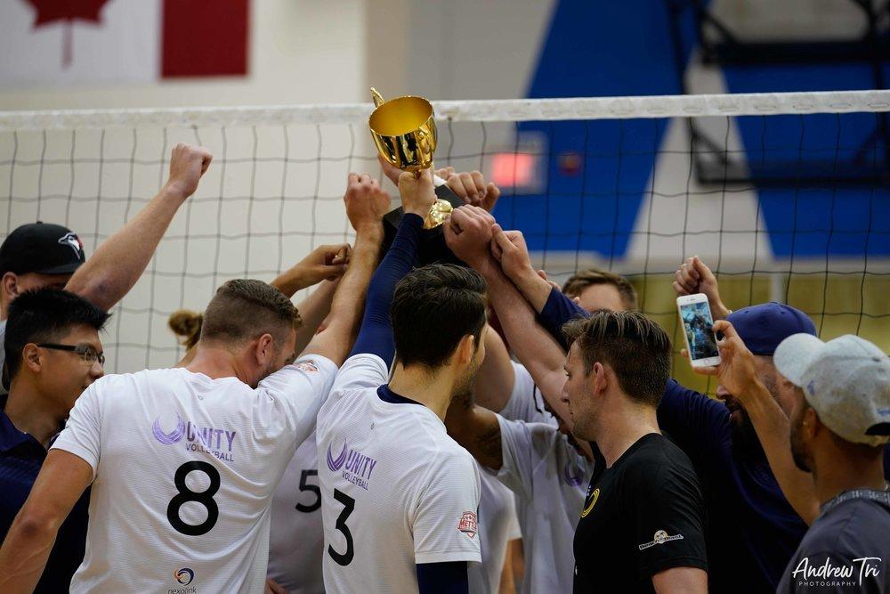 Unity Volleyball Men's team won the prestigious Premier Cup in 2017.