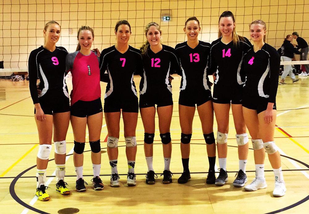 Women's Elite Champions - Heat  LtoR: Landis Doyle, Jolande Amoraal, Kris Dowling, Emily Betteridge, Sophie Bukovec, Rebecca Glancy, Andi Price